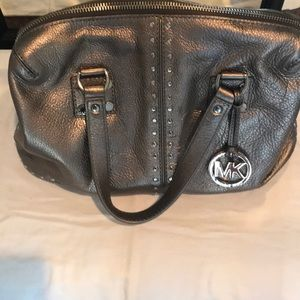 Michael Kors muted silver Tote